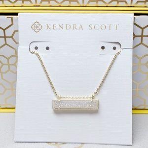 Kendra Scott Gold Iridescent Drusy Leanor
